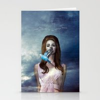 ultraviolence Stationery Cards featuring I Hear The Birds by Wis Marvin