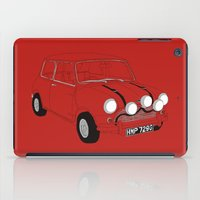 mini cooper iPad Cases featuring The Italian Job Red Mini Cooper by Martin Lucas