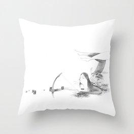 Au naturel Throw Pillow