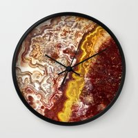 white marble Wall Clocks featuring Marble by Santo Sagese