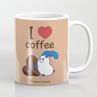 coffe Mugs featuring Ernest | Love coffe by Hisame Artwork