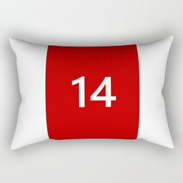 Legendary No. 14 in red and white Rectangular Pillow