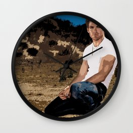 Chris Pine 8 Wall Clock