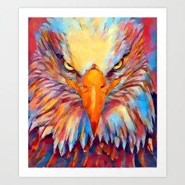 Bald Eagle Watercolor Art Print