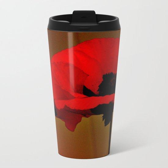 POPPIES Metal Travel Mug