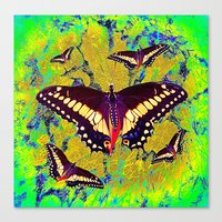butterflies Canvas Prints featuring butterflies  by  Agostino Lo Coco