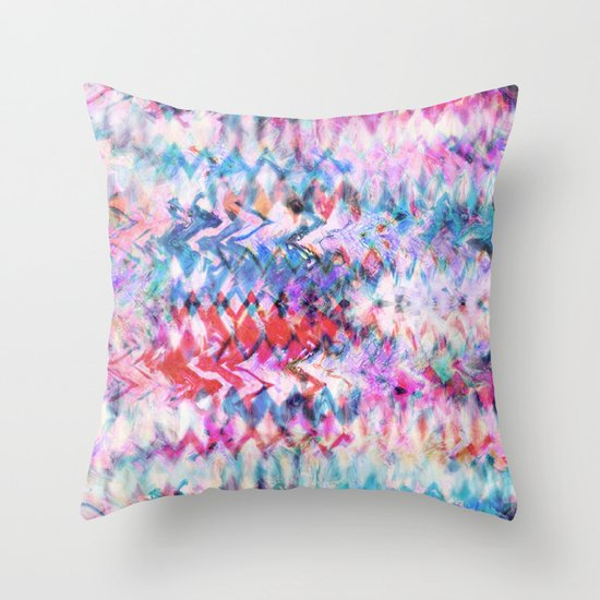 Tie Dye Soda Throw Pillow
