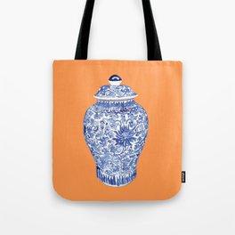 GINGER JAR ON TANGERINE  Tote Bag