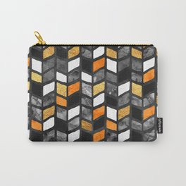 Fall Herringbone Carry-All Pouch