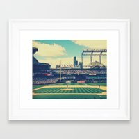 yankees Framed Art Prints featuring Mariano Rivera - last pitch in Seattle by Jeremiah Gallagher