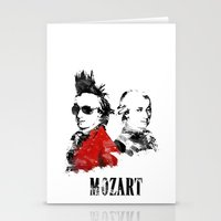 mozart Stationery Cards featuring Mozart Punk by viva la revolucion