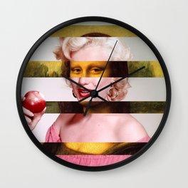 "Leonardo Da Vinci's ""Mona Lisa"" & Marylin Monroe Wall Clock"