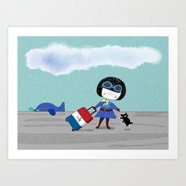 Bluey's Trois Couleurs Art Print
