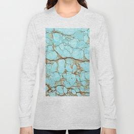 Rusty Cracked Turquoise Long Sleeve T-shirt