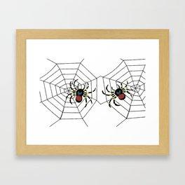 two big Spider Halloween web Framed Art Print