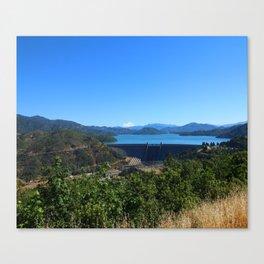 Shasta Lake View Canvas Print
