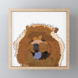 Chow Chow Dog Framed Mini Art Print