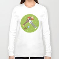 iwatobi Long Sleeve T-shirts featuring Sunbathing by Le Piaf Bleu