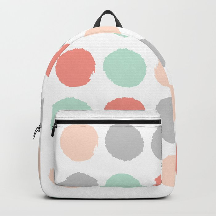 Painted minimal dots trendy gender neutral bright happy color palette nursery art Backpack