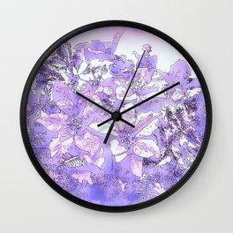 Christmas Bouquet in a purple haze Wall Clock