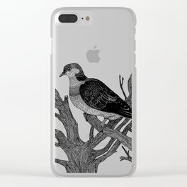 Turtle dove Clear iPhone Case