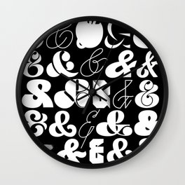 25 Ampersands Wall Clock