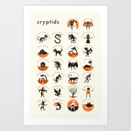 CRYPTIDS A-Z Art Print
