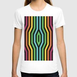 Symmetric vertical stripes background IV T-shirt