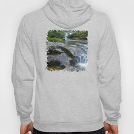 Waterfalls in wild forest Hoody