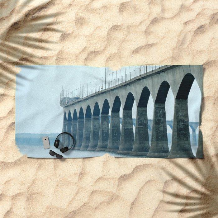 Confederation Bridge Prince Edward Island Beach Towel