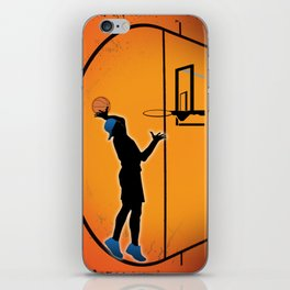 Basketball Player Silhouette iPhone Skin