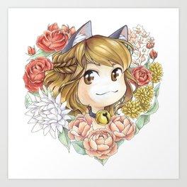 Hearty kitty Art Print