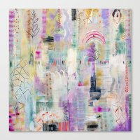 flora bowley Canvas Prints featuring Whisper Truth Original Painting by Flora Bowley by Flora Bowley