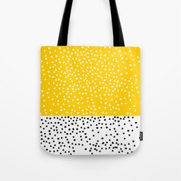 Cute yellow pattern with dots Tote Bag