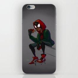 Miles Morales Loves Pizza Breaks in the Spider-Verse iPhone Skin