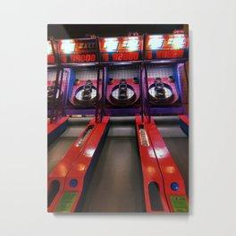 Neon Skeeball Metal Print