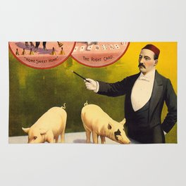 Vintage poster - Trained pigs Rug