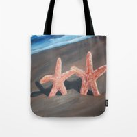 starfish Tote Bags featuring Starfish by Lark Nouveau Studio