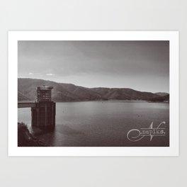 Eildon Lake Art Print