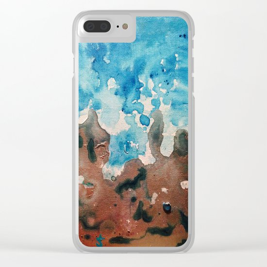 Water and Sand is Where I Want to Be Clear iPhone Case