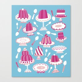 Would You Like Some Dessert (in Blue)? Canvas Print