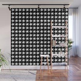 Black White Stars Pattern Wall Mural