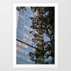 Urban Leaves Art Print