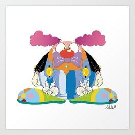 Big clown Art Print