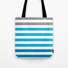 Stripes Gradient - Blue Tote Bag