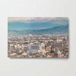 Rome Aerial View at Saint Peter Basilica Viewpoint Metal Print