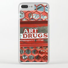 Art Drugs Clear iPhone Case