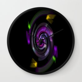 Magic of colors Wall Clock