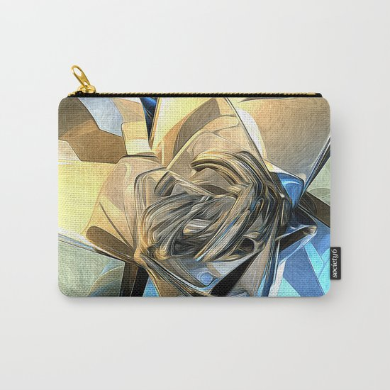 Abstract Macro Structure Carry-All Pouch