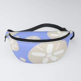 Sand Dollar Blue and Tan Fanny Pack